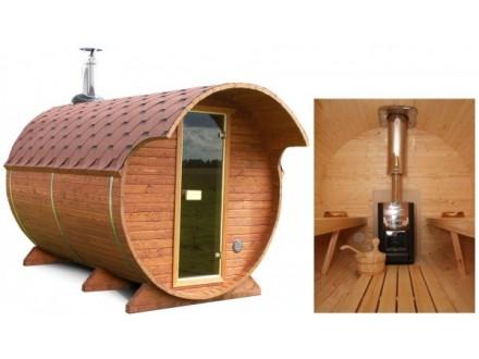 Баня-бочка деревянная